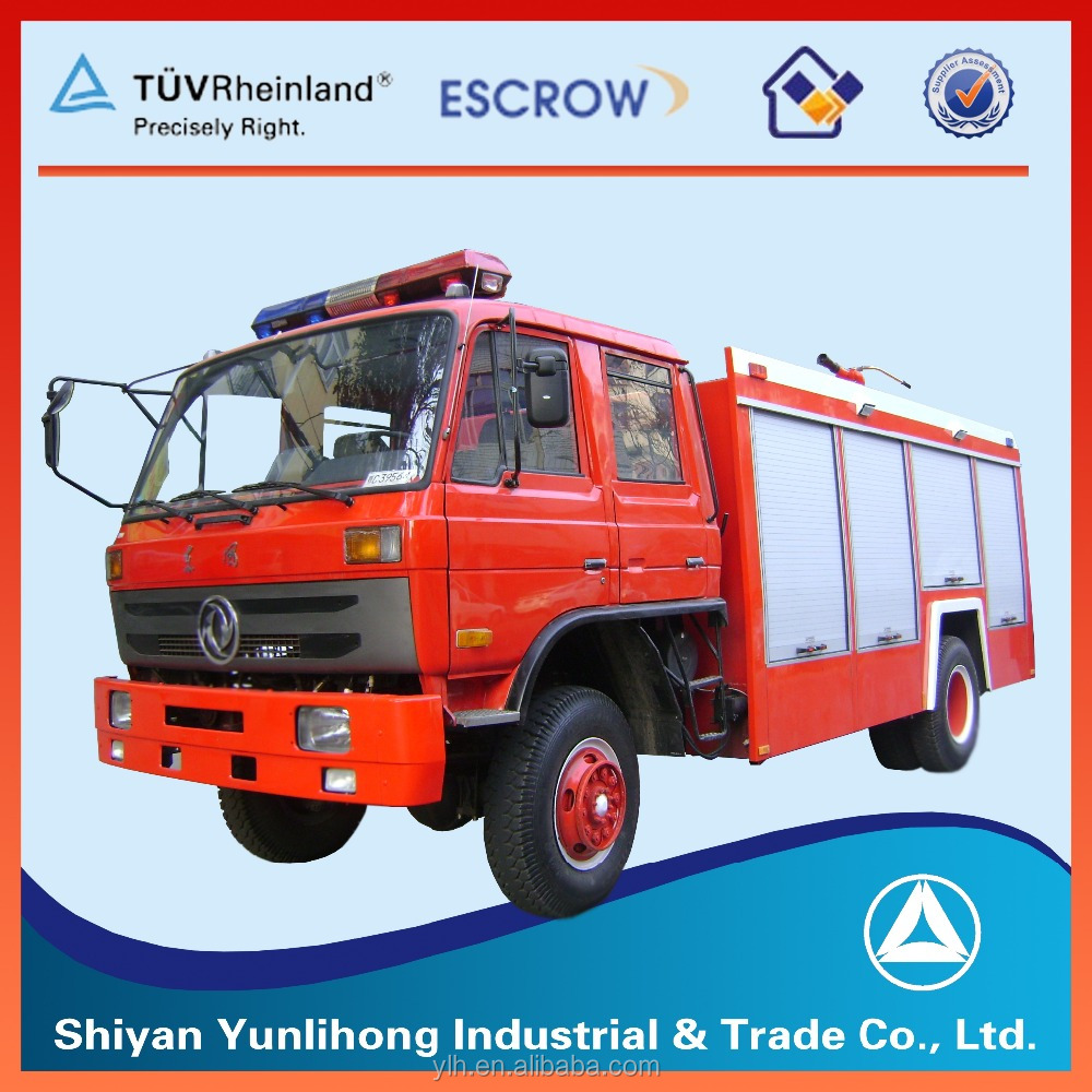 Red Rescue Dongfeng Fire Truck For Sale / Fire Truck Manufacturers