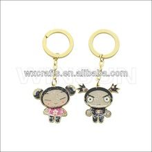 couple keychain souvenir, wedding gift metal lover key chain