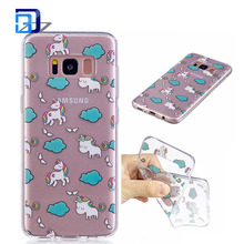 High quality IMD tpu case printing painted cartoon cell phone case for samsung galaxy s8 plus