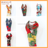 High quality modern design jacquard knitting pattern infinity spring scarf and shawls