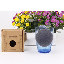 High Quality Organic Green Tea Konjac Sponge Customized Box and Logo Package Face Clean Sponge Soft Dry Konjac Sponge