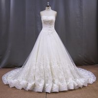 2015 alibaba bridal gowns high quality ball gown elegant lace wedding dresses with long trains