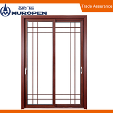 Cheap aluminum decorative sliding door grills