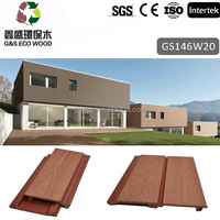 2017 water proof and Durable wood plastic composite / wpc exterior wood wall panels passed CE