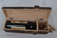 2015 single wholesale wine box manufacturers supply wooden wine boxes Wooden crafts Pine wine