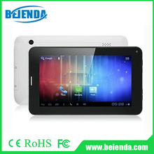new 7inch A23 dual core tablet pc with SIM card calling 4G 512MB android 4.2 system support GPS, BT, WIFI, FM