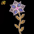 Artificial led pole light flower shape for holiday decoration