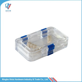 Clear Plastic Hinged Lid Gift Box Denture Box