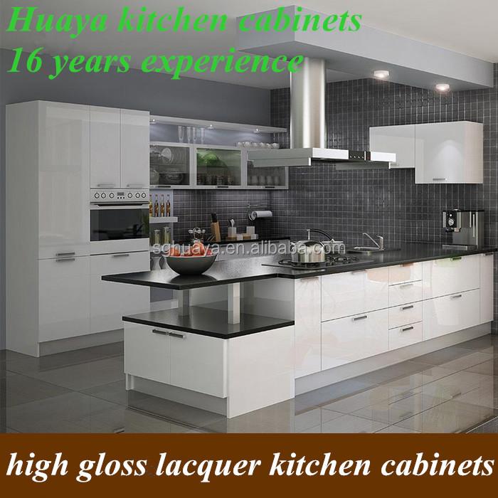 White high gloss affordable modern kitchen cabinets buy for Affordable modern kitchen cabinets