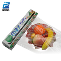 direct sales width 60cm high transparent plastic cling film with cutter