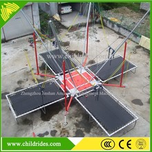 trailer mounted square bungee trampoline adults mobile inflatable bungee jumping for sale