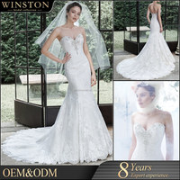 2015 New Design Top Quality China Factory Made embroidered tulle bodice ruffled tiered organza sexy bridal wedding