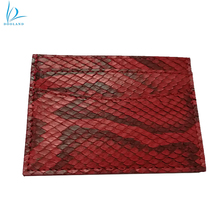 Luxury genuine python leather skin credit card holder
