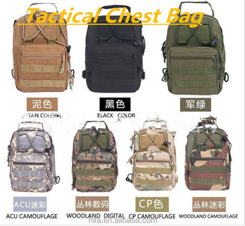 Tactical Fly Fishing Camping Equipment Outdoor Sport Nylon Wading Chest Pack Cross body Sling Single Shoulder Bag