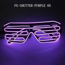 colorful kids adults new year flashing party led glasses in purple light