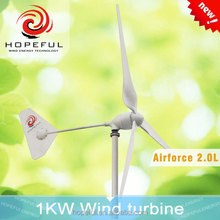 china portable electric generating windmills supplier 1000W/1KW wind turbine generator on grid/ off grid system