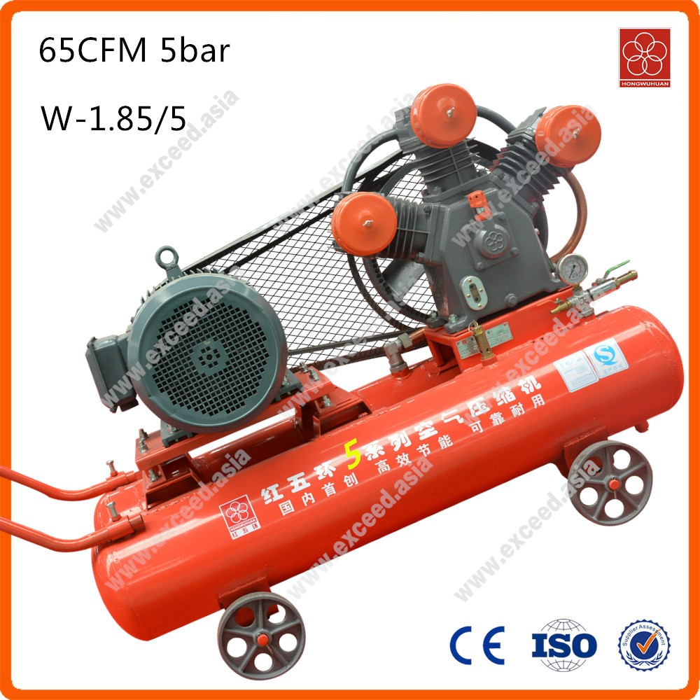 W-1.8/5 mining electric motor 65cfm 5bar 11kw 15hp air piston compressor
