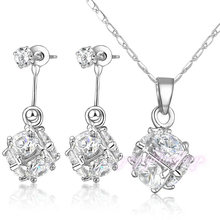 New fashion jewelry 18k gold plated zircon ball jewelry sets