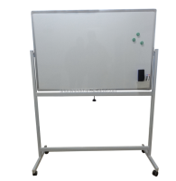 New design standing aluminum frame mobile whiteboard with height adjustable