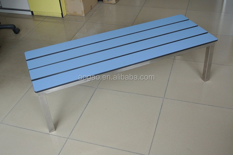AOGAO solid phenolic board wood outdoor bench