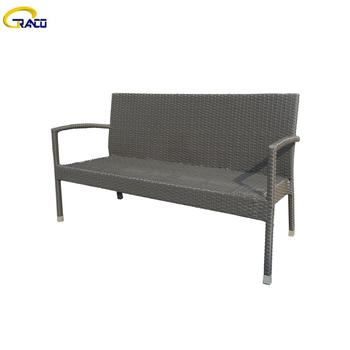 Modern garden luxury leisure time outdoor furniture rattan dining bench chairs