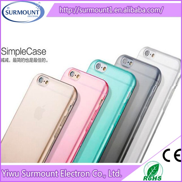 Hot product Ultra thin 0.3mm crystal clear transparent tpu phone case for iphone 6 6S