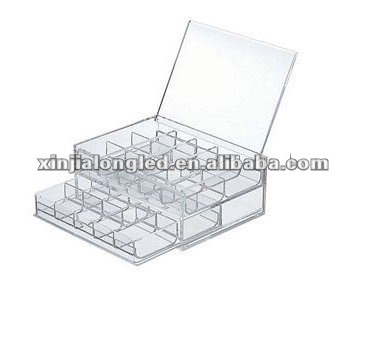 82753 Water Clear Stackable Acrylic Drawer Acrylic Cosmetic Organizer Acrylic Jewelry Case With Dividers With Two Drawers