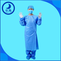 Sterile disposable surgical gown standard or reinforced disposable hospital gowns for sale