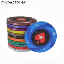 Anti-Impact Material 10g Ept Printing Ceramic Custom Poker Chips