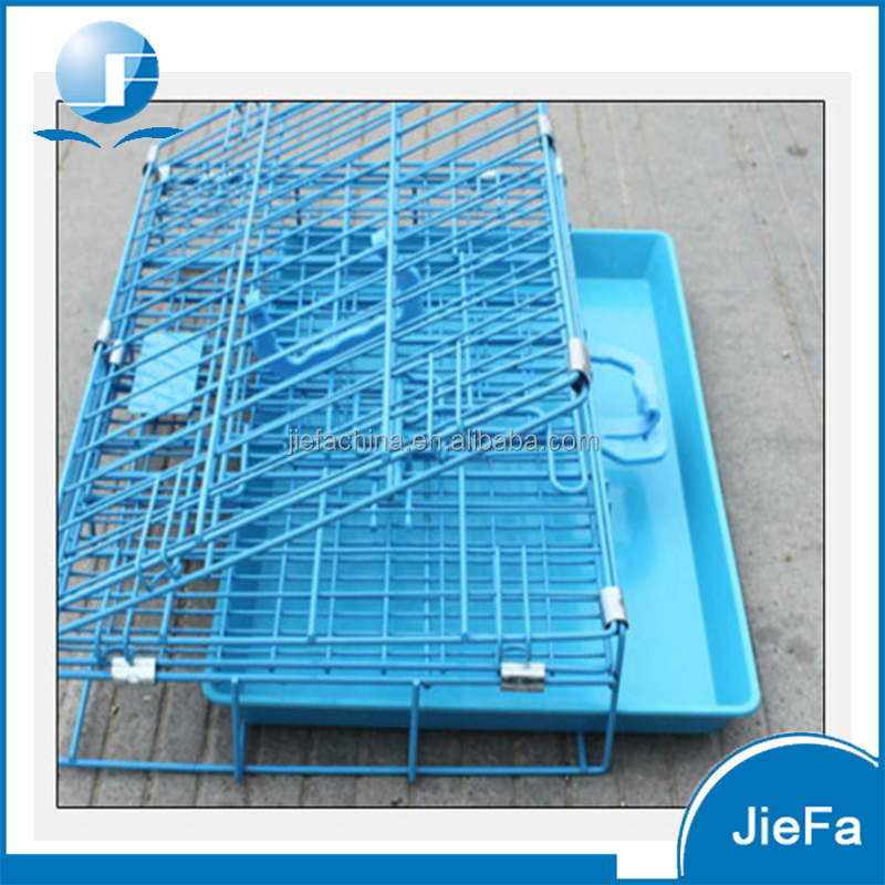 Folding wire pet cage