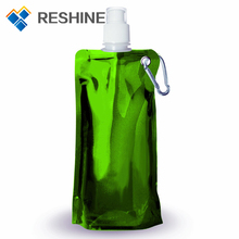 Foldable Water Bottle Bag 480ML Environmental Protection Collapsible Portable Water Bag Sports water bottle 480ml