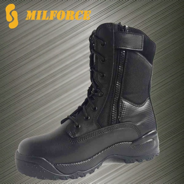 high quality black men's police tactical boot
