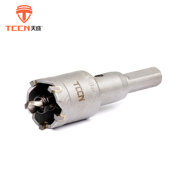TCCN Wholesale Products Sandblast Surface 25mm Stainless Steel Cutter TCT Carbide Hole Saw Drill Bit
