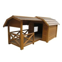 Balcony Dog Wooden House