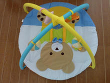 run bear New Arrival Multifunctional Indoor Gym Foldable Plush Baby Play Mat with Rattles On Promotion