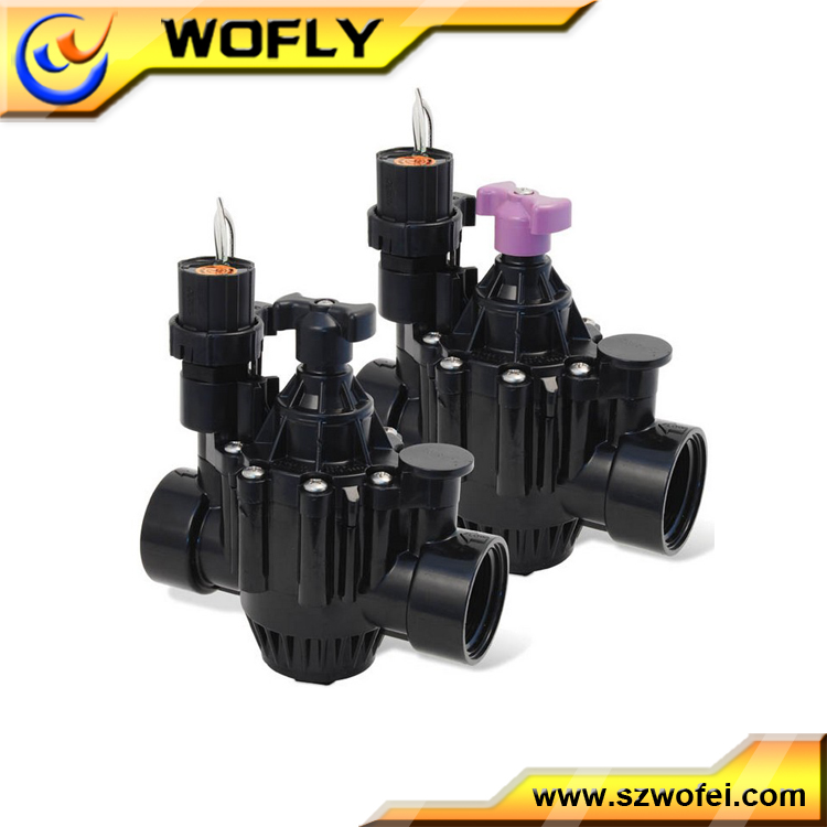 plastic one way solenoid irrigation valve 24v ac dc