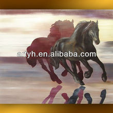 best seller high quality free fabric horse running painting designs