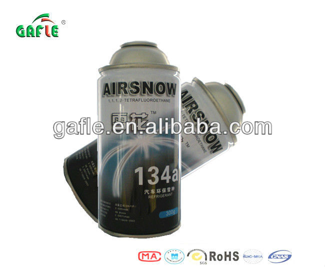 gas tin with gas r134a