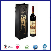 Fashion design kraft paper wine gift bag