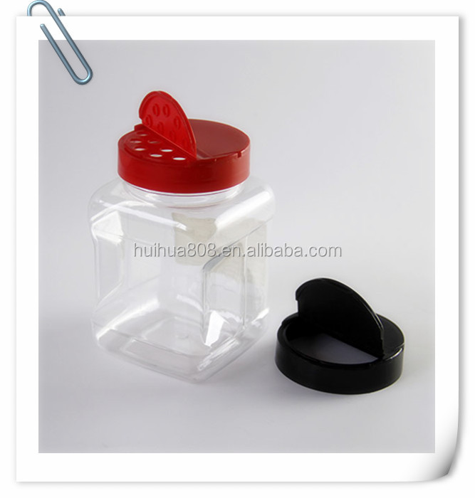 plastic spice jar with shaker lids