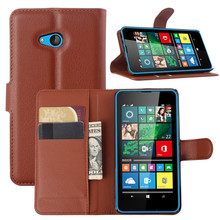 High quality new arrival wallet stand leather flip back cover for Nokia Lumia 435