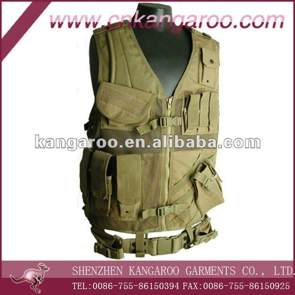 Security guard olive green multi pockets tactical vest
