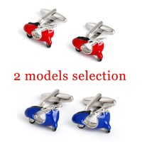 Novelty Cuff links Blue Red Motor Cufflink 1 Pair Retail High Quality