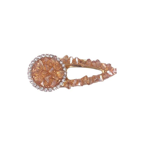 2019 New Crystal Glass Rhinestone Geometric Duck Bill Hair Clip Accessories For Ladies