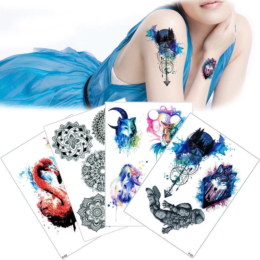 New 15x21cm Temporary Tattoo Stickers in Stock P01 - P38