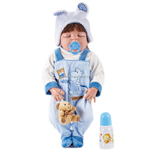 57cm Kid's Toys Dolls Reborn Dolls Sleeping Baby Doll Action Figure Toys Birthday Christmas Gifts Brinquedos Full Silicone Body