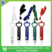 Beer Promotional Bottle Opener Pen With Lanyard