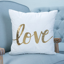 Gold foil / Silver foil decorative cushion cover pillows for home sofa bedding