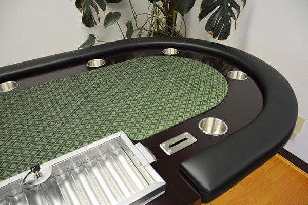 96 Inch cheap poker table with metal chip tray and metal drop boxes
