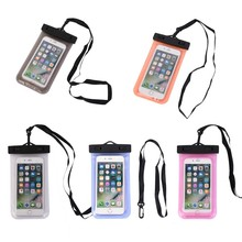 2018 high quality floating waterproof cellphone bag, mobile phone PVC waterproof dry bag for driving
